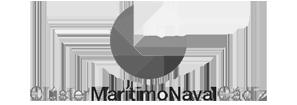 Logotipo Clúster Marítimo Naval Transparente y Gris