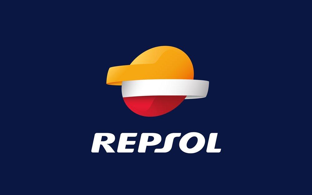 Logotipo Repsol Fondo Azul