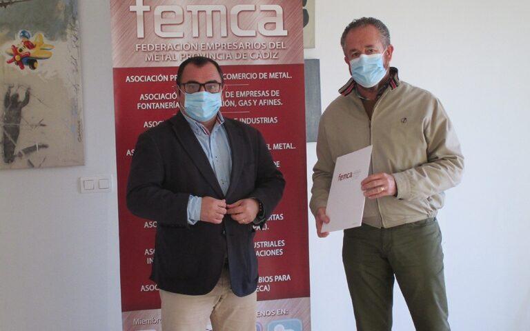 José Muñoz, secretario general de FEMCA y Antonio Montoro, secretario general de UGT FICA